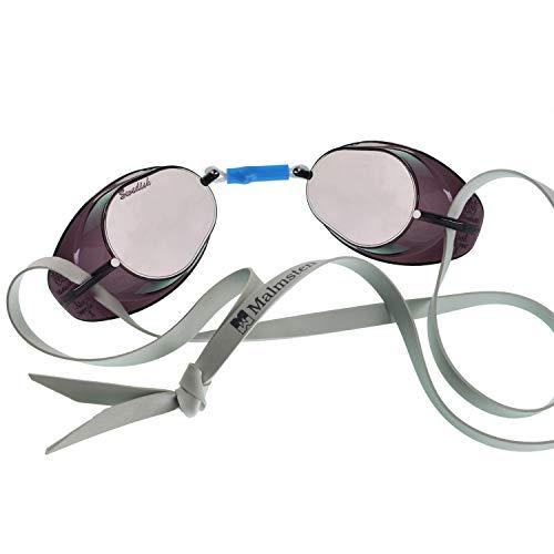 Beco Unisex– Erwachsene Schwedenbrille, verspiegelt-99222, Smoke, One Size