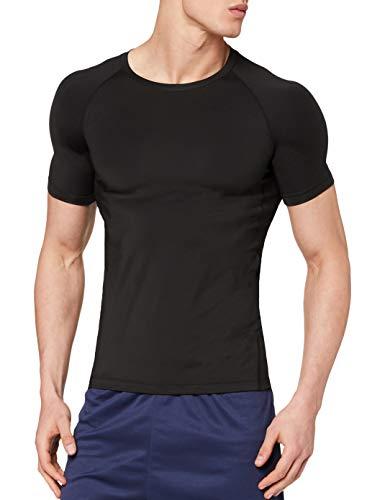 OXENSPORT Herren Funktionsshirt Fitness Kurzarm, Sport Tshirts Atmungsaktiv (Schwarz, Medium)