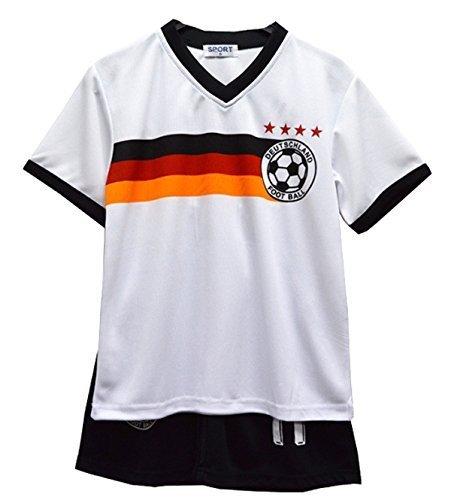 Completo estivo da calcio, con maglietta e pantaloncini, per bambini, 40 (9-10 ans), Allemagne