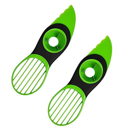 ROBAKO Avocadoschneider Avocado Slicer/3 in1 Avocadoschäler/Edelstahl Klinge und Rutschfester Silikongriff/Küchenwerkzeug/2 Stücke