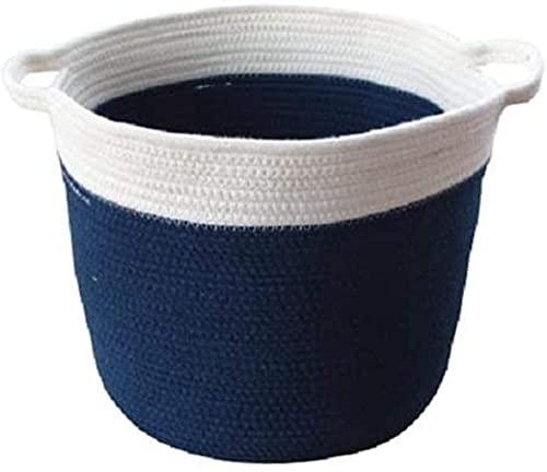 Yvelife Caja de Almacenamiento Plegable, Cestas de Almacenamiento para la Cesta de Lino Cesta de Almacenamiento de algodón Eco con Mango Armario Organizador Ropa Toallas Toallas Juguetes de Cama