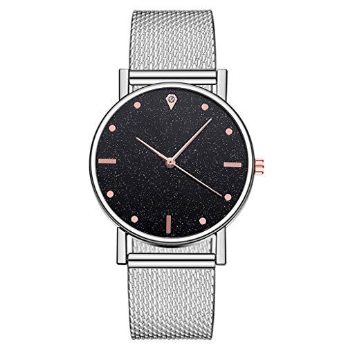 xy Mira Las Mujeres Vestido de Acero Inoxidable Banda analógica de Cuarzo Reloj de Pulsera de Lujo de Lujo Damas Oro Rosa Oro Reloj Reloj analógico # w (Color : K)