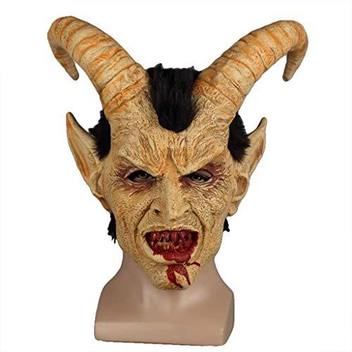 DYB Kostüm Erwachsene Gefallene Engel Maske Terror Teufel Luzifer Satan Maske Helm Halloween Cosplay Party Performance Requisiten-Weihnachtsschmuck