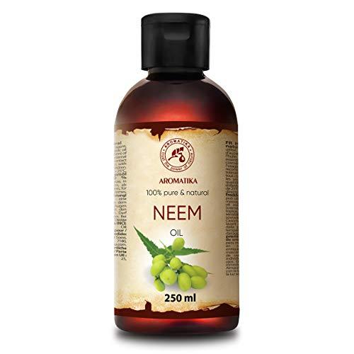 Neemöl 100% Pflanzlich - Neem Öl 250ml - Kaltgepresstes Reine Unraffiniert Neem Öl - 100% Natürliches und Reines Neem Öl - Pflanzenöl - Pflege für Haut, Haare, Tiere, Garten
