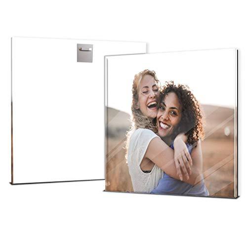wandmotiv24 Ihr Foto auf Acrylglas 20 x 20 cm (BxH) - Quadratisch - Acrylglas SOFORT ONLINE VORSCHAU, personalisiertes Wandbild, Acrylbild, Glas Bild...