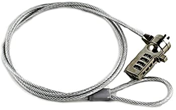 DPC Laptop Cable Lock & Security Cable for PC, Compatible with Kensington, Notebooks..