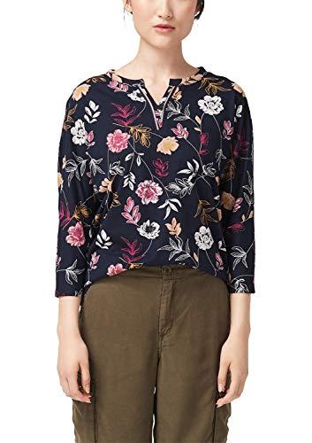 s.Oliver Damen 14.908.39.2752 T-Shirt, Blau (Navy Floral Print 59c4), (Herstellergröße: 36)