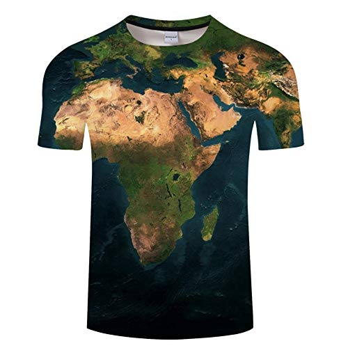 Unisex-Kurzarm-T-Shirt 3D HD-Karte Impressum gedruckt Männer Sommer ClubStraße Teenager Casual halbe Hülse Tees Jugend Paar Urlaub Strand S-6XL, XXL, A