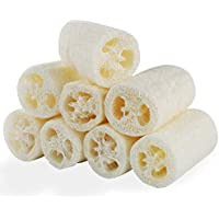 8 PCS Natural Loofahs Loofah Sponges Loofah Spa Exfoliante Exfoliante Gel de baño Esponja Quitar la piel muerta para el spa Ducha corporal Cuidado diario de la piel