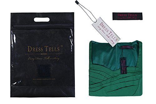 Dresstells 50er Retro Audrey Hepburn Schwingen Pinup Polka Dots Rockabilly Kleid Black 2XL - 6