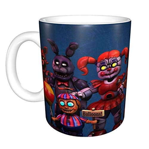 Taza de cafe Five Nights at Freddys para capuchino, cafe con leche o te caliente, 330 ml