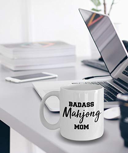 NA Regalo para mamá - Badass Mahjong Mom - Taza Mahjong - Regalos Mahjong - Taza para Madre Mahjong - Idea de Regalo para Madre