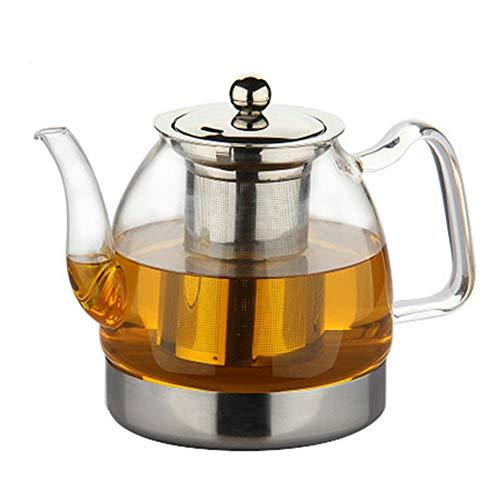 NoBrand Dik glazen theepot met 304 roestvrij staal voor strainer hittebestendig Loose Leaf Tea pot Tool Kettle 800 ml