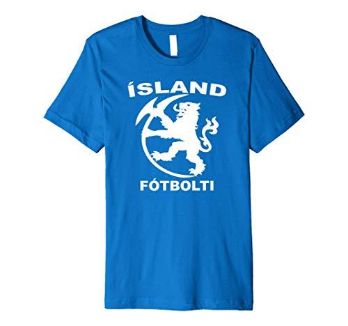 Iceland Icelandic Football Soccer Jersey Shirt Tee Premium T-Shirt