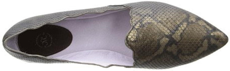 Johnston & Murphy Women's Tami Slipper Metallic Snake Print Loafer 6.5 M
