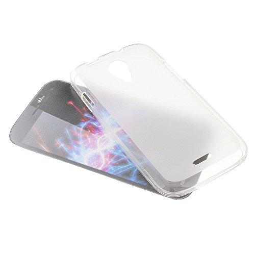 foto-kontor Tasche für Wiko Darknight Gummi TPU Schutz Handytasche milchig transparent