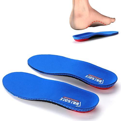 VALSOLE Sport Komfort Einlegesohlen Für Damen & Herren - Optimale Dämpfung einlagen schuhe bei für Herrlicher für Füße, Beine und Rücken - für Fersensporn, Plattfuße, Plantarfaszitis