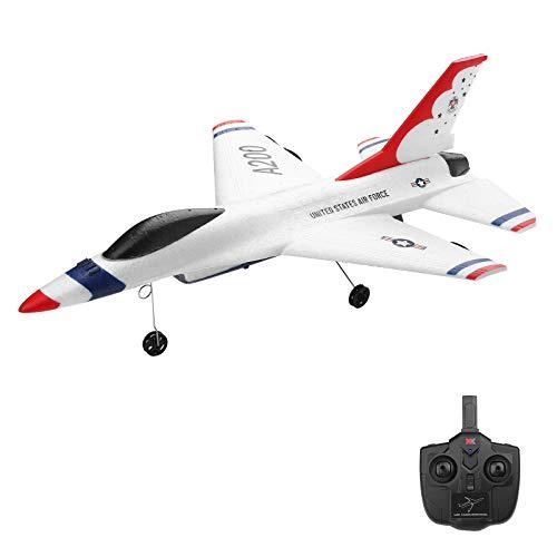 Kedelak XK A200 F-16B RC Avión 2.4GHz 2CH RC Avión de Vuelo Juguetes para niños Niños