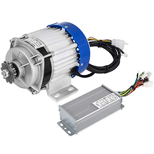 pequeño y compacto VEVORDC motor 48V 500W Brushless DC motor with gear …