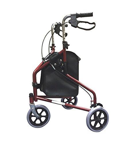 Vida sencilla personas de movilidad reducida de tiro con arco maleta con asa y ruedas andadores y sillas de ruedas - Con de acero plegable de bolsa de palos de color rojo y blanco