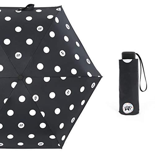 NJSDDB paraplu Cartoon Kleine Prins Paraplu Regen Vrouwen Vouwen Paraplu's Vrouwelijke Zonnige Parasol Mooie olifant Paraguas Mini Pocket Paraplu, Zwart
