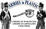 American War 1812 American Artillery Crew (5) w/6-Pdr Cannon (Blue Figs) 1/32 Armies in Plastic by Armies in Plastic