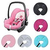 Aveanit Compatible con Maxi-Cosi Pebble Head Hugger Soporte para asiento de coche de bebé, soporte para reposacabezas de bebé recién nacido (Negro)
