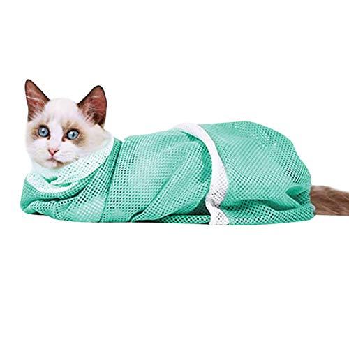 Xuanshengjia Bolsa De Baño para Aseo De Gatos para Mascotas, Bolsa De Lavado De Gatos Antiarañazos Y Mordida Transpirable Multifunción Ajustable Ajustable, Accesorios De Ducha para Mascotas
