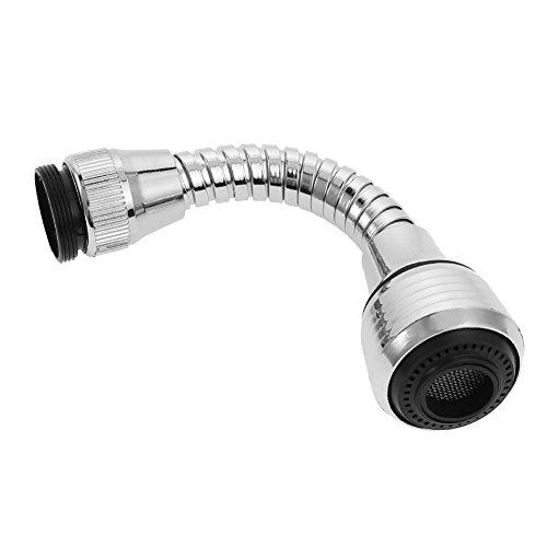 Pulverizador flexible para grifo de cocina, 360 rotativos, filtro difusor de agua de acero inoxidable para ahorro de agua