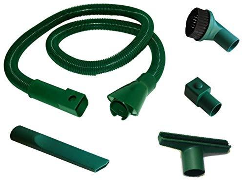 DL SERVICE TUBO ASPIRAPOLVERE FOLLETTO FLESSIBILE KIT ACCESSORI VK 130-131 VK 135-136 VK 140-150-200 COMPATIBILE, Verde