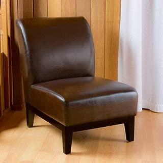 Christopher Knight Home Brakar Brown Leather Armless Chair