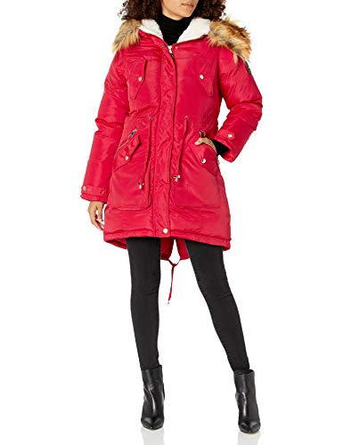 Bebe Damen Ladies 100% Poly Woven 600MM PU Coated WR Jacket Oberbekleidung, rot, X-Large