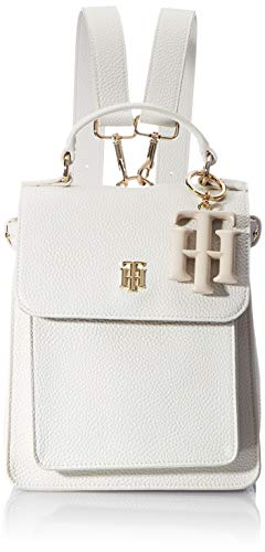 Tommy Hilfiger TH Soft, Mochila para Mujer, White Dove, One Size