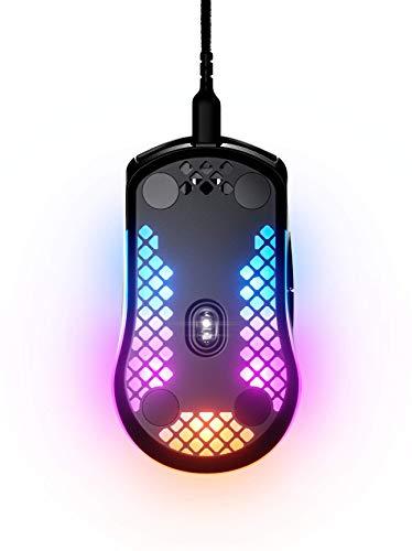 SteelSeries Aerox 3 – Superleichte Gaming-Maus – Optischer TrueMove Core Sensor mit 8.500 CPI– Ultraleichtes, wasserfestes Design – Schwarz - 4