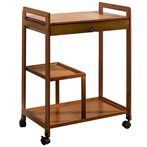 Nightstands End Side Tables Patio Coffee with Drawer Bucket position with Rolling Casters Reversible Espresso Multipurpose for Small Space