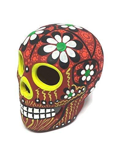 Einzigartiger handbemalter Keramik-Zuckerschädel ~ Made in Mexiko ~ Day of The Dead...