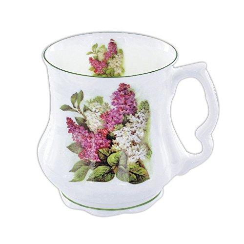 David Michael - Großmutter Große Kaffee-Tee-Becher mit lila und weißen Organe