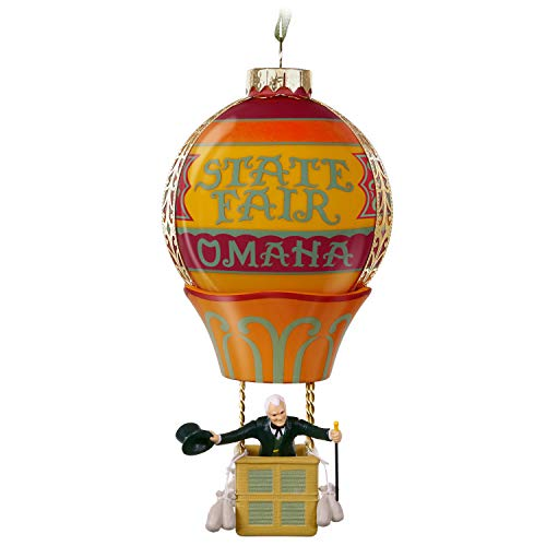 Hallmark Keepsake Christmas Ornament 2019 Year Dated The Wizard of Oz Up, Up and Away Hot Air Balloon, Glass and Metal