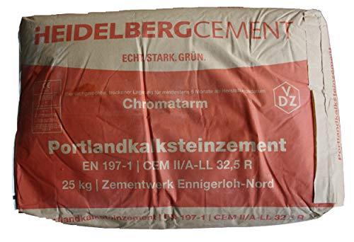 Heidelberger Portland Kalkstein Kalksteinzement 25 Kg Sack Made in Germany