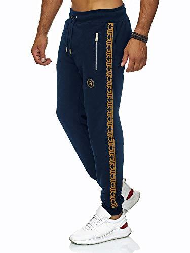 Red Bridge Herren Jogginghose Jogger Hose Sweat-Pants R-Logo Premium dunkelblau Gr M