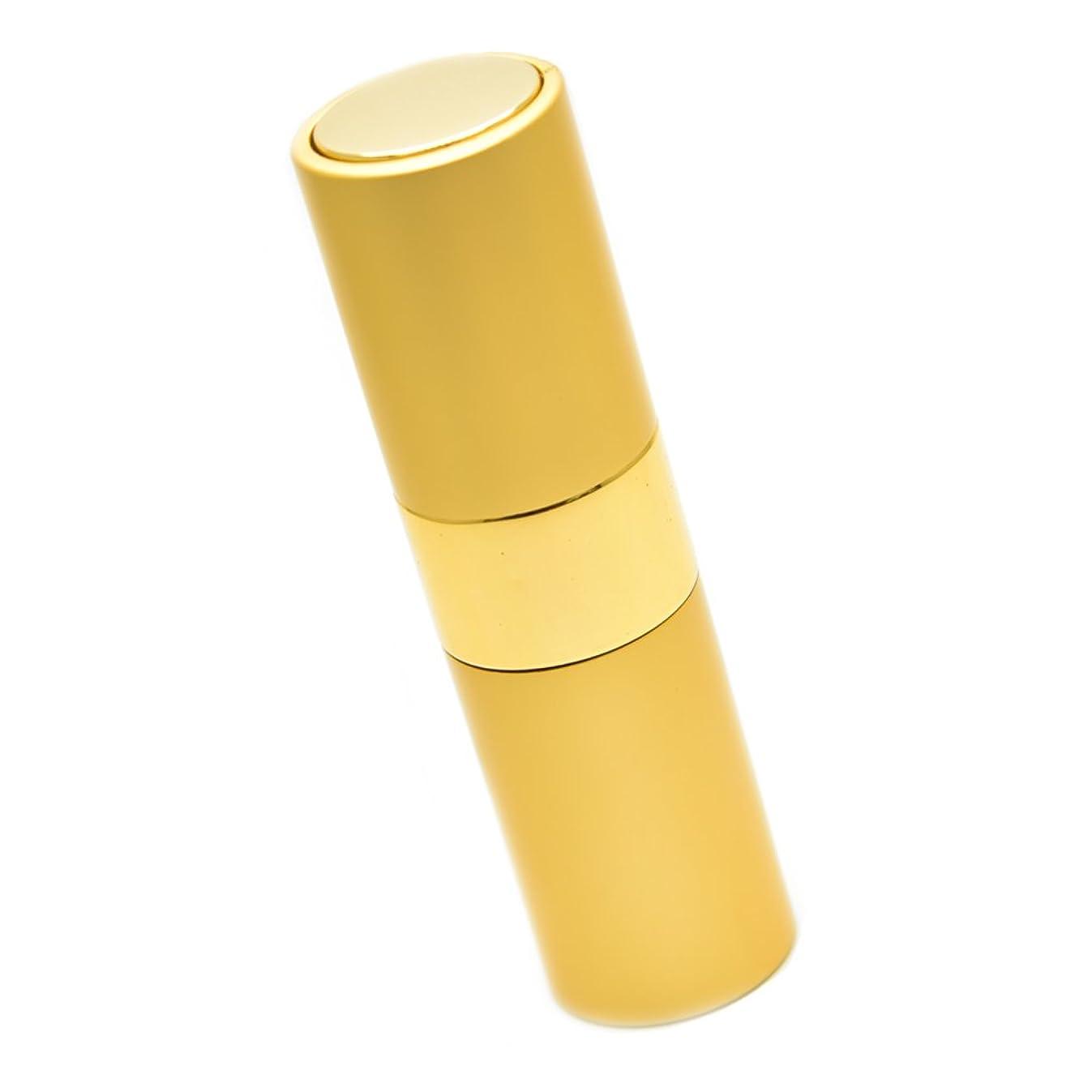 放棄ほこり被害者Geminass 香水 携帯用 アトマイザー プッシュ式 ボトル オシャレ メンズ レディース 15ml (ゴールド)