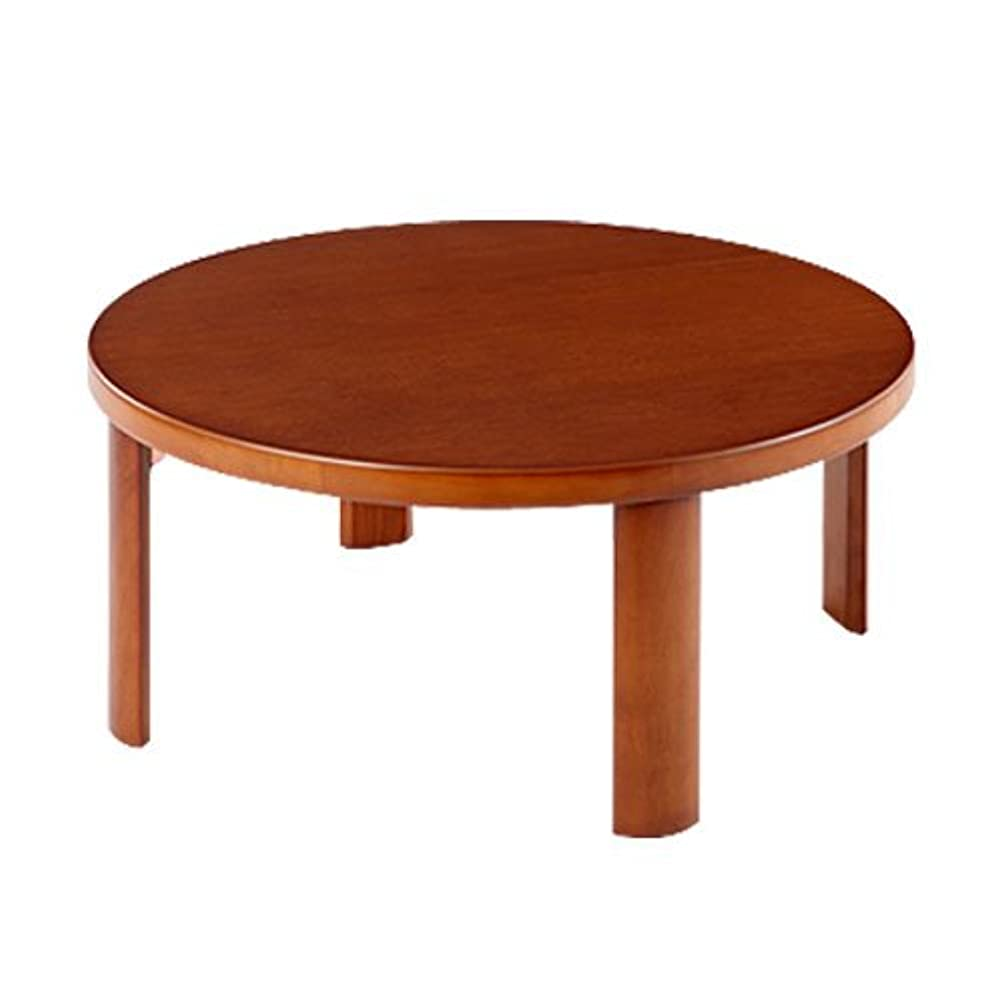 シチリア噂先史時代のぼん家具 ちゃぶ台 折りたたみ 木製 丸型 座卓 丸テーブル センターテーブル 円卓 〔幅75cm〕