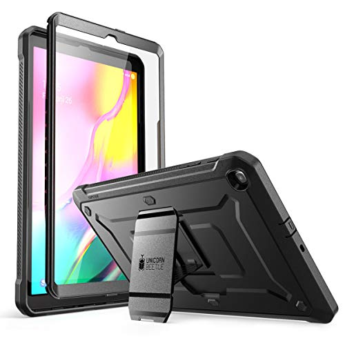 SUPCASE Hülle für Samsung Galaxy Tab A 10.1 2019 Schutzhülle 360 Grad Hülle Robust Cover [Unicorn Beetle Pro] mit Integriertem Bildschirmschutz & Ständer (Schwarz)