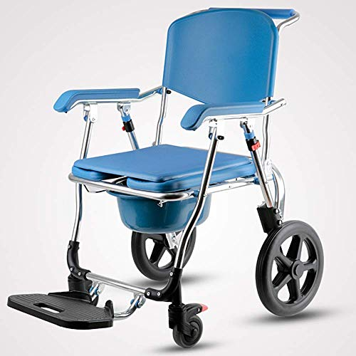 N/Z Daily Equipment Bath Chair Wheelchair Toilet Foldable Home Mobile Toilet with Folding Foot Soleplate for Use with Squat Pits or Toilets