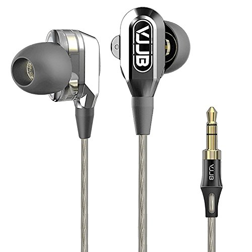 Dual Driver Earbuds for Music,GranVela VJJB V1 High Definition Earphones with High Tensile Cable, Noise-Isolating in-Ear Headphones