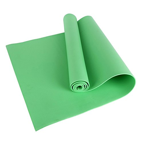 Bornbayb 1/6 Pouce épais antidérapant Tapis de Yoga Tapis de Yoga Tapis d'entraînement léger Tapis d'entraînement pour Hommes et Femmes