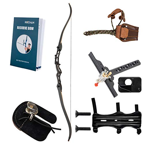 Rochan Recurve Bow Takedown Hunting Bow and Arrow Archery Set for Teens Adults Youth Beginners