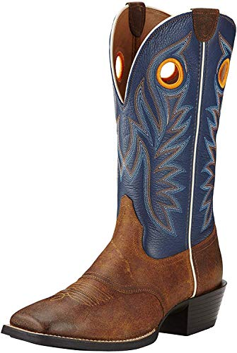 Ariat Men's Sport Outrider Western Cowboy Boot, Pinecone/Federal Blue, 9 D US