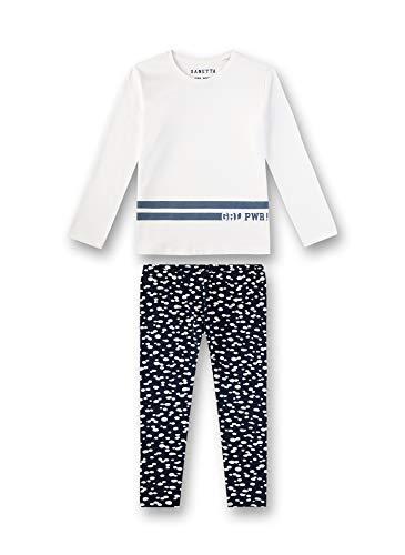 Sanetta Mädchen Athleisure Zweiteiliger Schlafanzug, Beige (Broken White 1427), (Herstellergröße: 128)