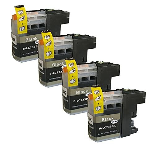 SXCD LC233 - Cartuchos de tinta para Brother MFC-J5720 J4120 J4620 J480DW J5320 J680DW DCP-J562DW 4 colores negro